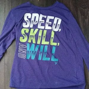 Long sleeved exercise top